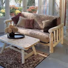 Futon Coffee Table Log Furniture Crafted Style Futons Cabin Place