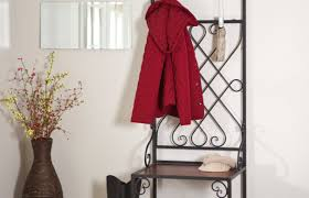 bench hall stand entryway bench and coat rack wonderful coat