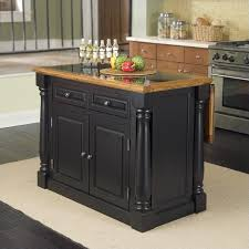 kitchen islands oak roll out leg granite top kitchen island in black and oak 5009 94