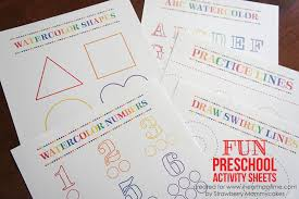 printable worksheet for 3 year olds watercolor preschool activity sheets i heart nap time