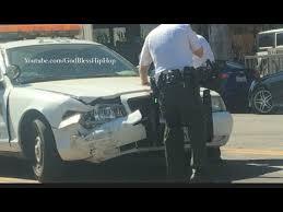 police car crash in hollywood youtube
