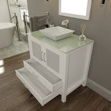 glass bathroom vanities their use in bathrooms and their pros