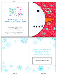 friends of kids with cancer 2017 holiday cards