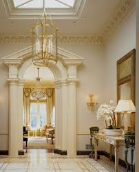 crown decor entry traditional with crown molding gold accents wood
