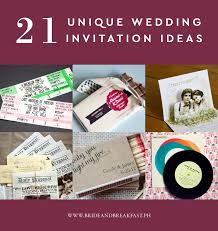 Do It Yourself Wedding Invitations Unique Wedding Invitation Designs Philippines Wedding Blog