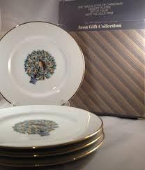 avon twelve days of dessert plates set of four