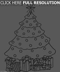 christmas tree with presents coloring pages u2013 happy holidays