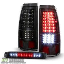 2004 chevy silverado led tail lights 03 06 chevy silverado 04 06 gmc sierra clear chrome led tail lights