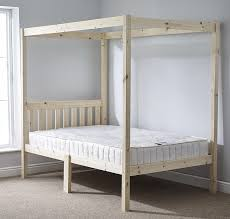 4 post bed four poster bed 4ft 6 double solid natural pine 4 poster bed