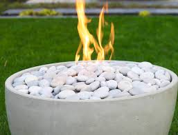 Firepit Rock Modern Pit Toppings Lava Rock River Stones And Glass Pit