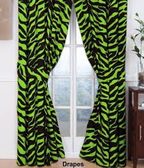 Zebra Valance Curtains Zebra Lime Green Collection Rod Pocket Drapes Or Valance Bass