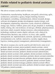 top 8 pediatric dental assistant resume samples