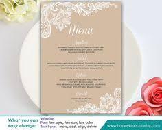 free printable rustic wedding stationery free menu templates