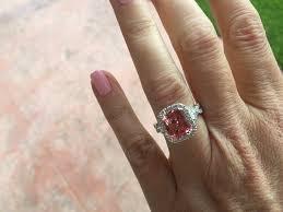 padparadscha sapphire engagement ring pink padparadscha sapphire weddingbee photo gallery