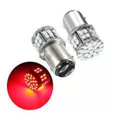 car brake light bulb pack of 2 super bright bay15d 1157 50smd 1206 led car brake light