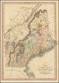 Map Of Vt Map Of Maine New Hampshire And Vermont Barry Lawrence Ruderman