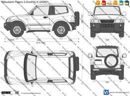 nissan nv200 template templates cars mitsubishi mitsubishi pajero 3 door gls