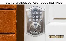 how to change the default codes of a trubolt electronic deadbolt