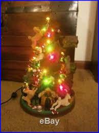 danbury mint poodle tree l sculpture vgc iob vtg
