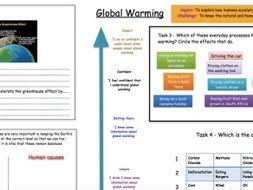 the causes of global warming ks3 by georesourcehub teaching