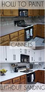 how to paint cabinets white without sanding how to paint oak cabinets white without sanding