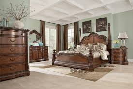 Cherry Brown Merlot Queen Bedroom Set Four Poster Bed Frame Ikea Antique Canopy Michael Amini Aico