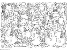 fashionable inspiration winter coloring pages snowman coloring