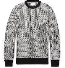 wool sweater mr p textured merino wool sweater