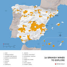 Catalonia Spain Map by Spanish Wine Exploration Map Wine Folly