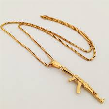army jewelry new high quality army charm machine gun pistol pendant necklace