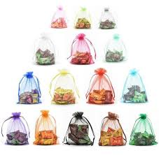 mesh gift bags 25pcs multi color organza gift bags with drawstring pouches