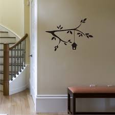 branch and birdhouse wall quotes wall art decal wallquotes com branch and birdhouse entryway stairs wall art decal
