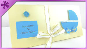 Homemade Birthday Invitation Cards Diy Baptism Invitation Card Eng Subtitles Speed Up 187 Youtube
