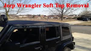 lowered 4 door jeep wrangler how to put down 4 door jeep wrangler soft top with one person
