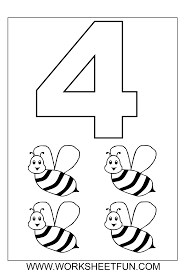 number coloring pages 4 coloring page