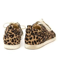 labellov christian louboutin gondoliere leopard print calf hair