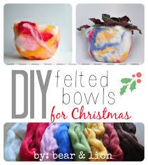 diy felted bowls