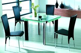 Square Glass Dining Table Jpg Chair Large Version Graceful Glass Dining Table With 4 Chairs