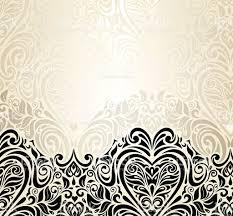 Invitation Card Background Design Wedding Vintage Floral Invitation Background Design Stock Vector
