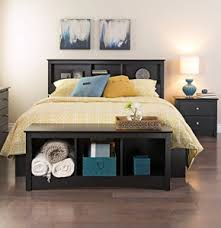 Bookcase Storage Bed King Storage Bed With Bookcase Headboard Sevenhints
