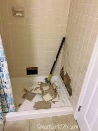 guest bathroom 3 shower demo a one woman job