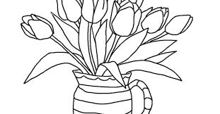 printable tulip coloring pages kids gekimoe u2022 25308