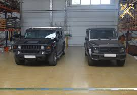 armored mercedes gelandewagen and hummer illegally