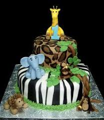1st birthday jungle themed cake my u2022cakes pinterest birthdays