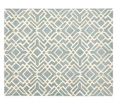 Pottery Barn Rugs 9x12 Shelby Tufted Wool Rug 9x12 Blue Pottery Barn
