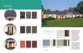 exterior color schemes for ranch style homes 1000 ideas about