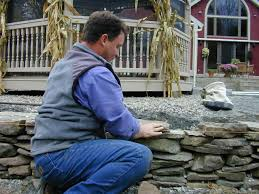 How To Get Marker Off The Wall by How To Build A Dry Stack Stone Retaining Wall How Tos Diy