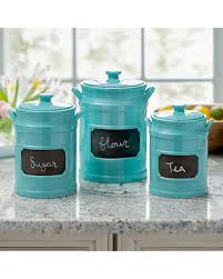 kitchen canisters find the best fall savings on turquoise chalkboard kitchen