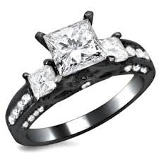 black engagement rings images Noori 14k black gold 1 1 2ct tdw certified 3 stone enhanced jpg