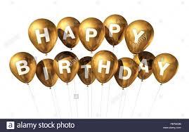 birthday balloons gold happy birthday balloons stock photo 93356052 alamy